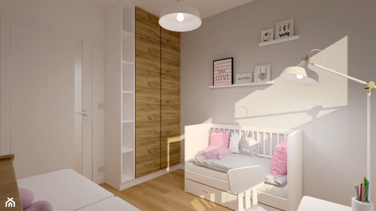 Klimatyczne mieszkanie w bloku z wielkiej płyty - Średni szary pokój dziecka dla dziewczynki dla nie ... - zdjęcie od Miliart Studio - Homebook