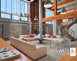 Salon styl Industrialny - zdjęcie od Miliart Studio