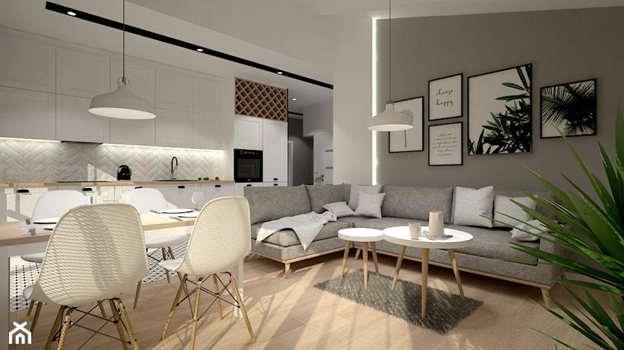 Mieszkanie na poddaszu w stylu skandynawskim - Salon, styl skandynawski - zdjęcie od Miliart Studio