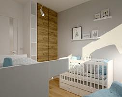 Klimatyczne mieszkanie w bloku z wielkiej płyty - Średni biały szary pokój dziecka dla chłopca dla dziewczynki dla niemowlaka, styl skandynawski - zdjęcie od Miliart Studio