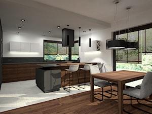 Nowoczesny parterowy dom - Jadalnia, styl minimalistyczny - zdjęcie od Miliart Studio