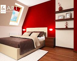 Bialo Czerwona Sypialnia