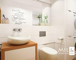 Dom jednorodzinny w Lublinie - Średnia łazienka w bloku w domu jednorodzinnym bez okna, styl nowoczesny - zdjęcie od Miliart Studio