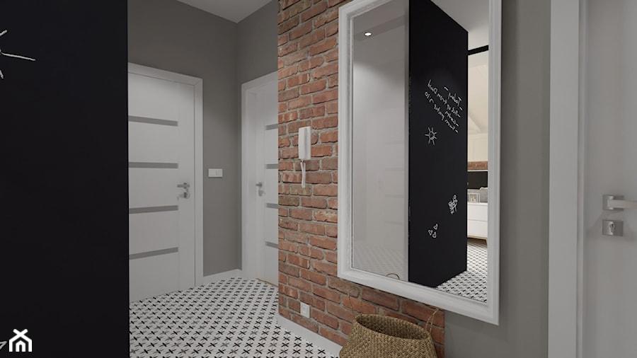 Mieszkanie na poddaszu w stylu skandynawskim - Hol / przedpokój, styl skandynawski - zdjęcie od Miliart Studio