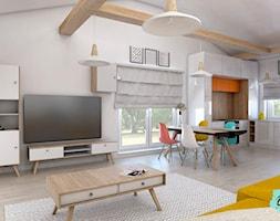 Gama barw w salonie - zdjęcie od Pracownia Projektowania Wnętrz ONAdesign