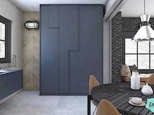 Salon z aneksem kuchennym w stylu industrialnym - zdjęcie od Pracownia Projektowania Wnętrz ONAdesign