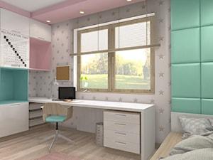Projekt parteru w domu jednorodzinnym - Średni szary zielony pokój dziecka dla chłopca dla dziewczynki dla ucznia dla nastolatka, styl nowoczesny - zdjęcie od Atelier Art&Design