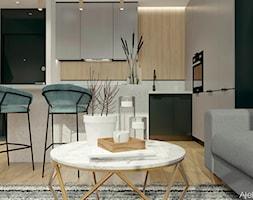 Męska kawalerka - Kuchnia, styl nowoczesny - zdjęcie od Atelier Art&Design - Homebook