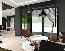Projekt Domu - Mały biały czarny salon z jadalnią, styl nowoczesny - zdjęcie od Atelier Art&Design