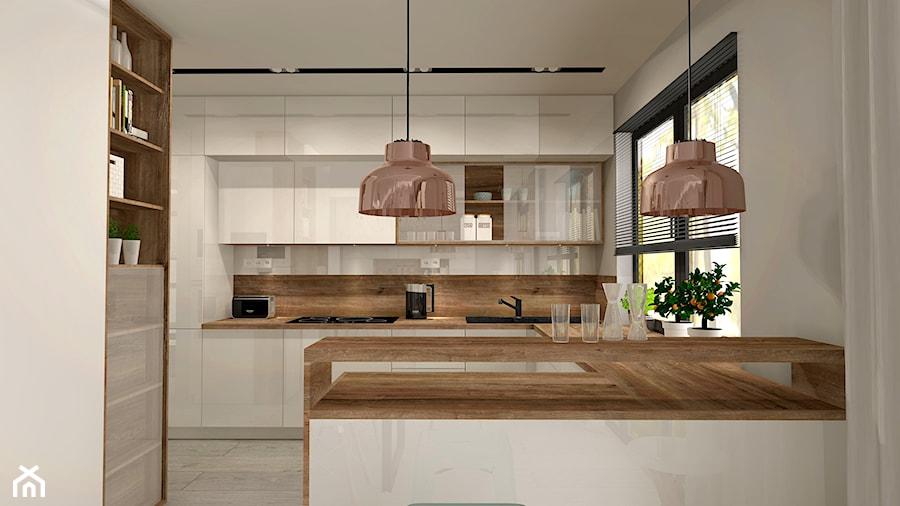 Aranżacja Kuchni I Salonu W Domu Jednorodzinnym Duża