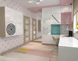 Projekt parteru w domu jednorodzinnym - Średni szary różowy pokój dziecka dla dziewczynki dla ucznia dla malucha dla nastolatka, styl nowoczesny - zdjęcie od Atelier Art&Design