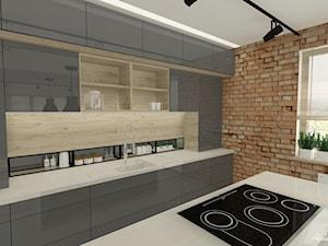 Salon z kuchnią nowoczesny