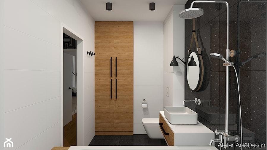 Mieszkanie Legnica 2 - Średnia łazienka w bloku w domu jednorodzinnym bez okna, styl nowoczesny - zdjęcie od Atelier Art&Design