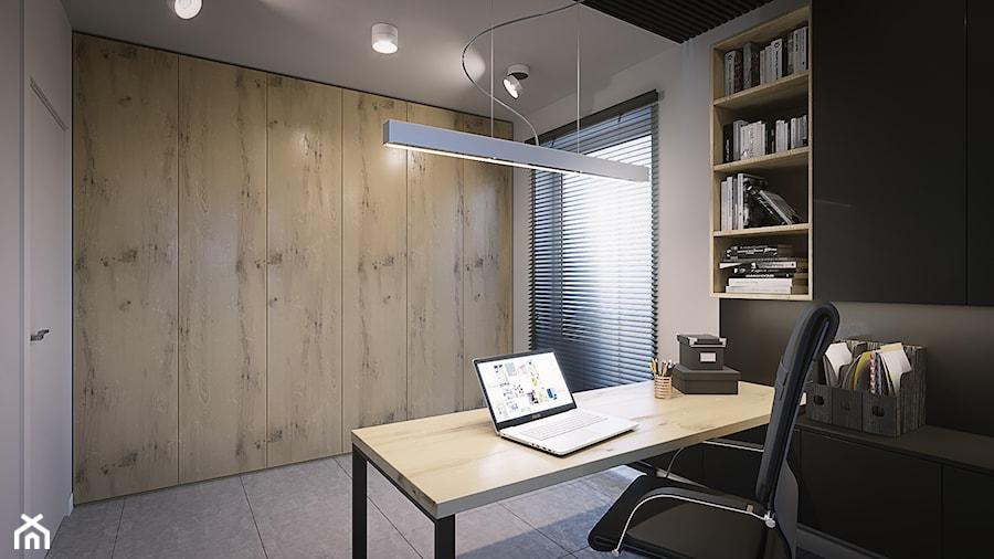 Aranżacje wnętrz - Biuro: Projekt w Iganiach - Biuro, styl nowoczesny - DEDEKO. Przeglądaj, dodawaj i zapisuj najlepsze zdjęcia, pomysły i inspiracje designerskie. W bazie mamy już prawie milion fotografii!