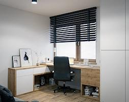 Dom Warszawa Wawer - Średnie szare biuro domowe kącik do pracy, styl nowoczesny - zdjęcie od DEDEKO - Homebook