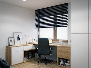 Dom Warszawa Wawer - Średnie szare biuro domowe kącik do pracy, styl nowoczesny - zdjęcie od DEDEKO