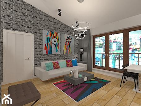 Aranżacje wnętrz - Salon: Penthouse w nowoczesnym stylu - Średni szary salon z jadalnią, styl nowoczesny - MyWay Design. Przeglądaj, dodawaj i zapisuj najlepsze zdjęcia, pomysły i inspiracje designerskie. W bazie mamy już prawie milion fotografii!