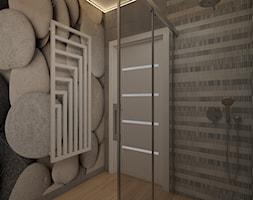 Projekt wnętrz domu - Mała łazienka w bloku w domu jednorodzinnym bez okna, styl nowoczesny - zdjęcie od MyWay Design