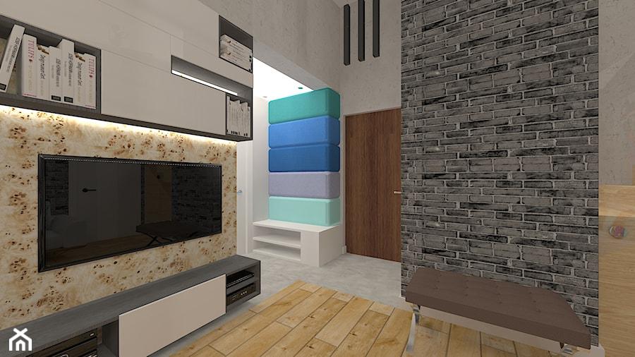 Penthouse w nowoczesnym stylu - Średni szary hol / przedpokój, styl nowoczesny - zdjęcie od MyWay Design
