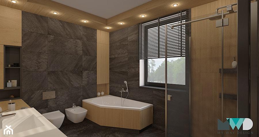 Projekt łazienki w czarnym wydaniu - zdjęcie od MyWay Design