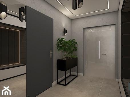 Aranżacje wnętrz - Hol / Przedpokój: Projekt wnętrz domu - Średni szary hol / przedpokój, styl nowoczesny - MyWay Design. Przeglądaj, dodawaj i zapisuj najlepsze zdjęcia, pomysły i inspiracje designerskie. W bazie mamy już prawie milion fotografii!