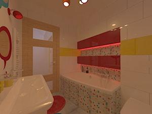 projekt łazienki w stylu pop art