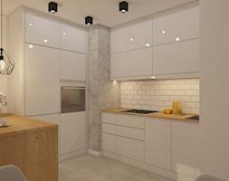 projekt mieszkania w skandynawskim stylu - Średnia otwarta beżowa kuchnia w kształcie litery u, sty ... - zdjęcie od MyWay Design - Homebook
