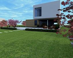 Projekt ogrodu w Sarnowie - Duży ogród za domem, styl nowoczesny - zdjęcie od Hirszberg Pracownia Architektoniczna