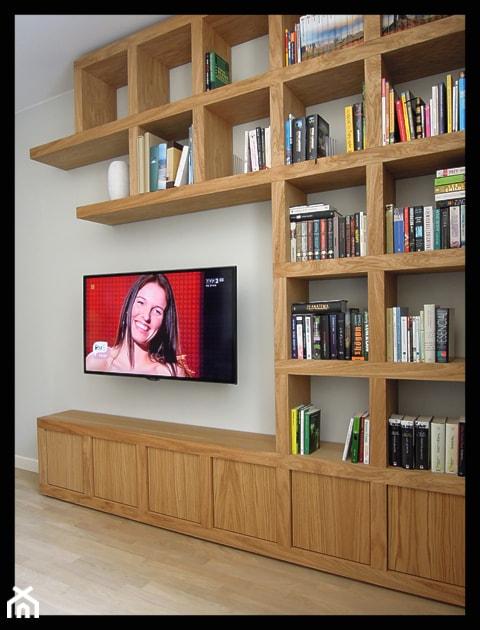 Biblioteczka w kratk zdj cie od cellaio dla moli for Biblioteczka w salonie