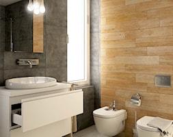 turkus - Średnia łazienka z oknem - zdjęcie od Dekoncept - Homebook