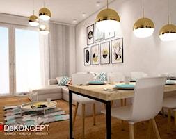 dom - Średnia otwarta szara jadalnia w salonie - zdjęcie od Dekoncept - Homebook