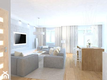 Aranżacje wnętrz - Salon: projekt mieszkania we Wrocławiu 1 - Salon, styl minimalistyczny - Dekoncept. Przeglądaj, dodawaj i zapisuj najlepsze zdjęcia, pomysły i inspiracje designerskie. W bazie mamy już prawie milion fotografii!
