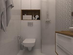 projekt mieszkania na wrocławskim rynku - Mała biała łazienka w bloku w domu jednorodzinnym bez okna, styl prowansalski - zdjęcie od Dekoncept