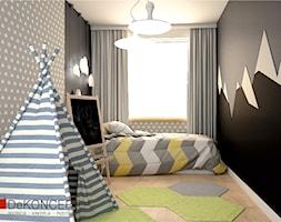 dom - Średni szary czarny pokój dziecka dla chłopca dla dziewczynki dla malucha dla nastolatka - zdjęcie od Dekoncept - Homebook