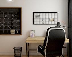 beton & drewno - Małe białe biuro kącik do pracy - zdjęcie od Dekoncept - Homebook