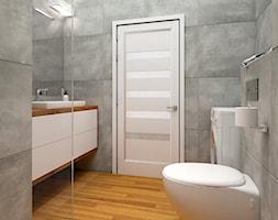 kwadraty - Średnia łazienka bez okna - zdjęcie od Dekoncept - Homebook