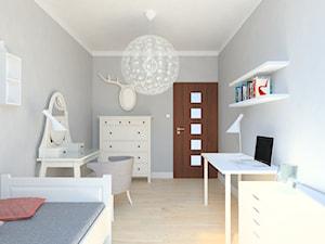 projekt mieszkania we Wrocławiu 1 - Średni szary pokój dziecka dla dziewczynki dla ucznia dla nastolatka, styl minimalistyczny - zdjęcie od Dekoncept