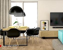 turkus - Średnia otwarta szara jadalnia w salonie - zdjęcie od Dekoncept - Homebook