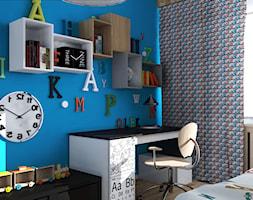 girls vs boys - Mały niebieski pokój dziecka dla chłopca dla ucznia dla malucha - zdjęcie od Dekoncept