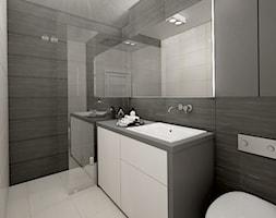 grafit - Średnia łazienka w bloku w domu jednorodzinnym - zdjęcie od Dekoncept - Homebook