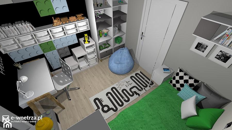 Pokój Krzysia Pasjonata Minecraft Projekt Wnętrza Mieszkalnego E