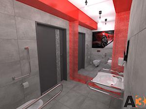 MOTOklinika (biuro+wc) - Mała biała łazienka w bloku w domu jednorodzinnym bez okna - zdjęcie od Interior Design A3D Architekci Krzysztof Gruszfeld