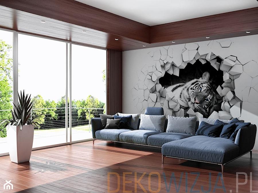 Fototapeta 3d Tygrys W ścianie Zdjęcie Od Dekowizjapl Homebook