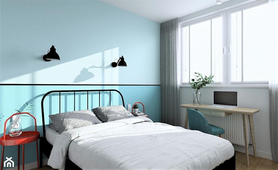 Sypiania turkusowa z biurkiem - zdjęcie od MOA design