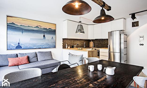 skandynawska kuchnia typu loft