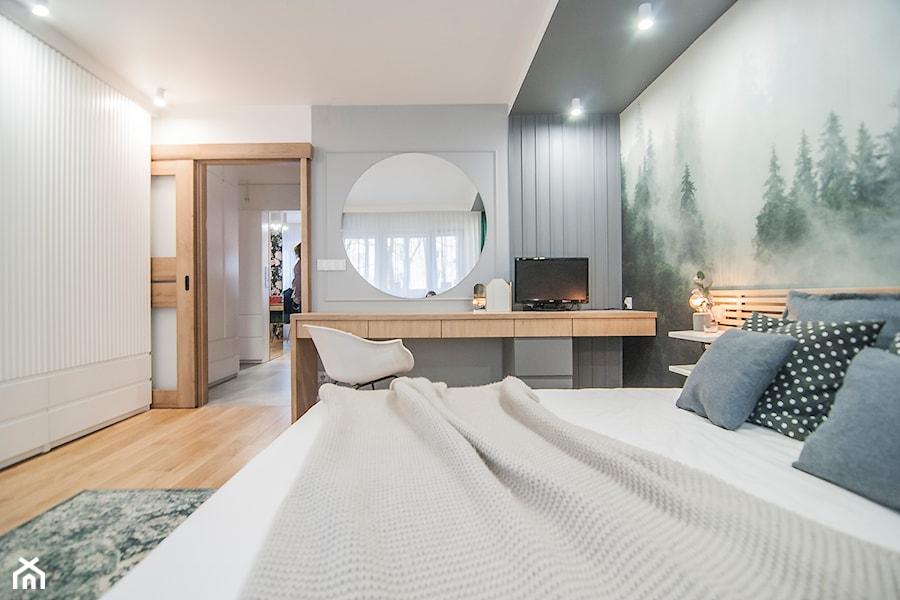 Mieszkanie Mistrzejowice - Kraków 2020 - Sypialnia, styl skandynawski - zdjęcie od NOVI art Pracownia projektowa