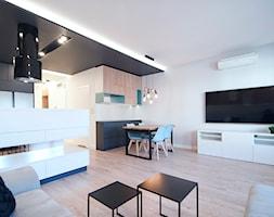 Mieszkanie Eldorado - Kraków 2019 - Salon, styl nowoczesny - zdjęcie od NOVI art Pracownia projektowa - Homebook