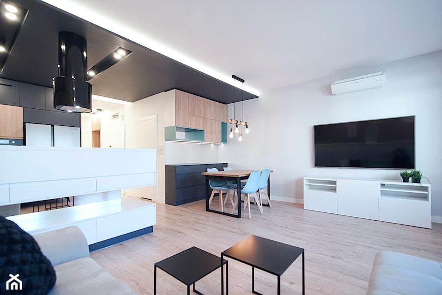 Apartament Eldorado - Kraków 2019 - Salon, styl nowoczesny - zdjęcie od NOVI art Pracownia projektowa