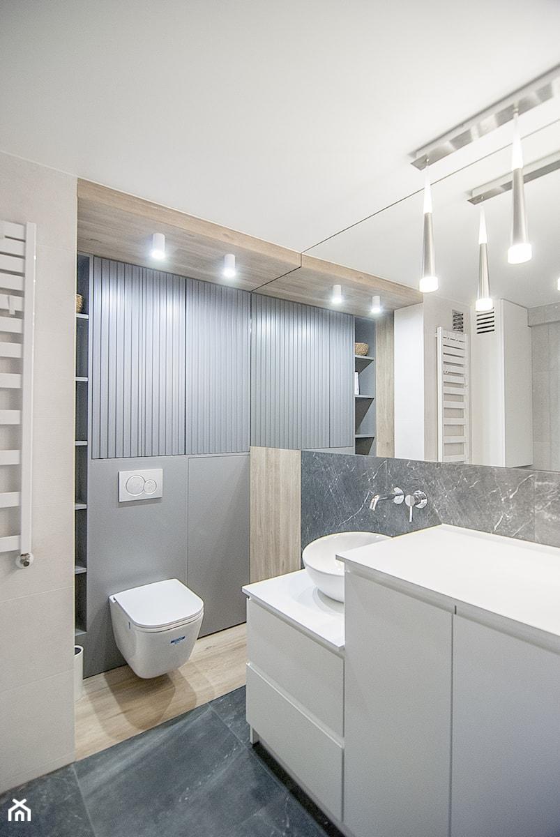 Mieszkanie Mistrzejowice - Kraków 2020 - Łazienka, styl nowoczesny - zdjęcie od NOVI art Pracownia projektowa