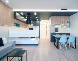 Mieszkanie Eldorado - Kraków 2019 - Kuchnia, styl nowoczesny - zdjęcie od NOVI art Pracownia projektowa - Homebook